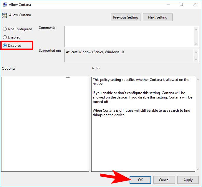 Cách tắt Cortana trên Windows 10