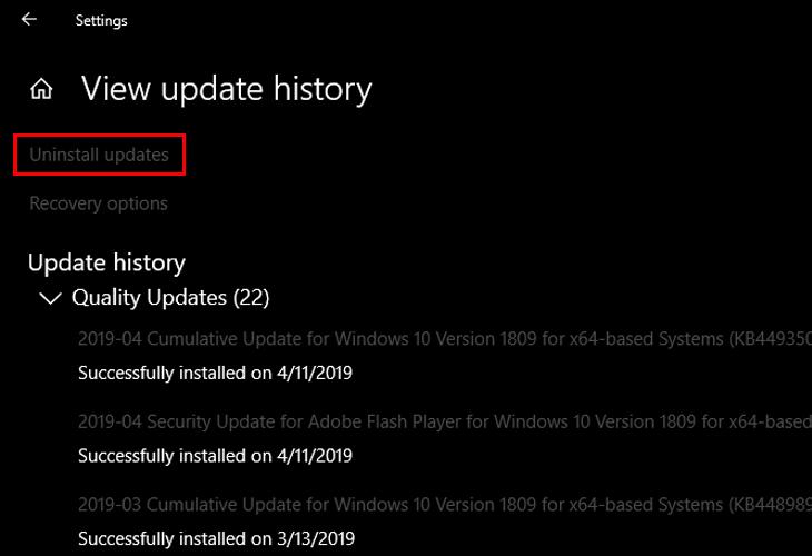 Cách sửa lỗi khi update win 10