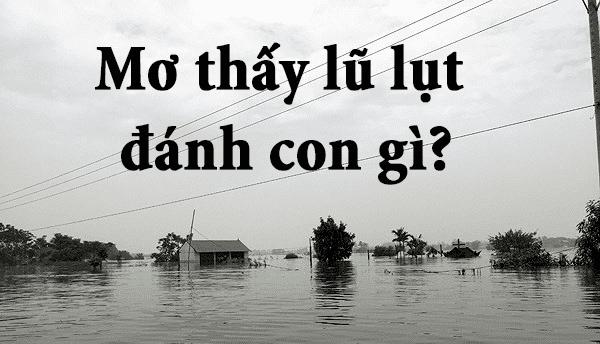 Con số may mắn khi mơ thấy lũ lụt